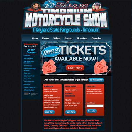 Timonium Motorcycle Show Website