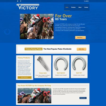 Victory Racing Plate Website